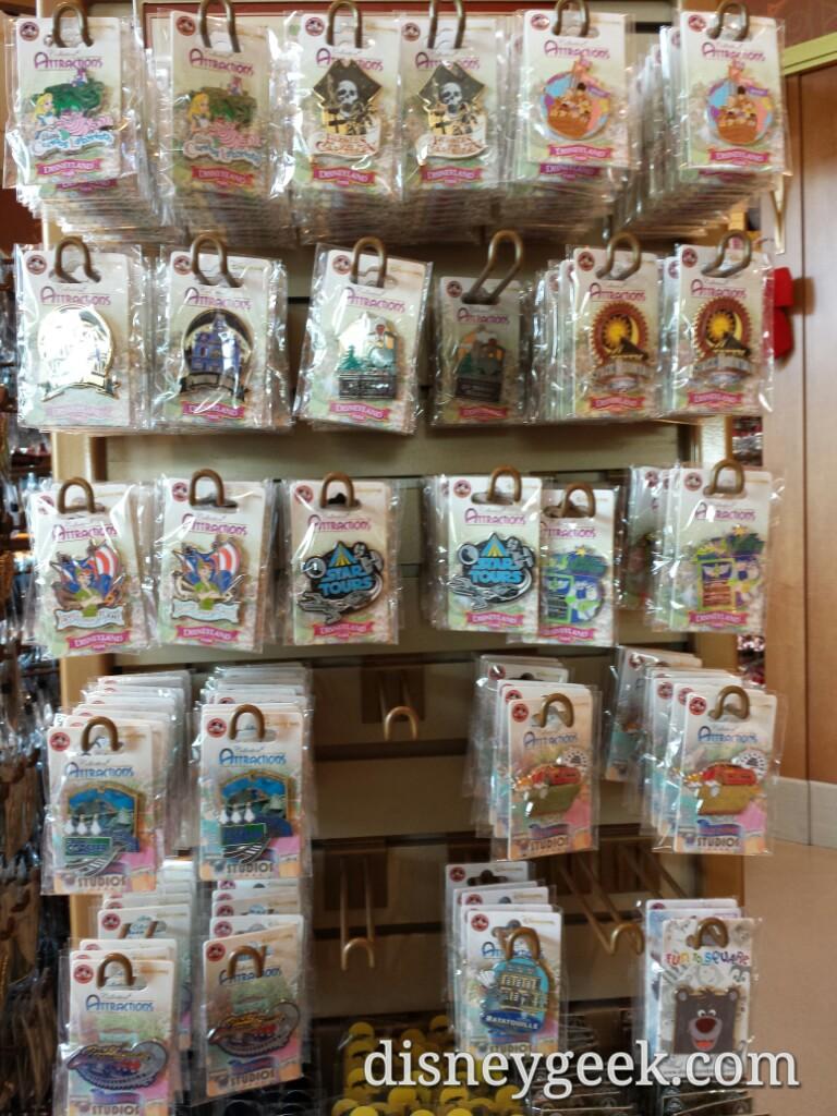 #DisneylandParis attraction pins in World of Disney