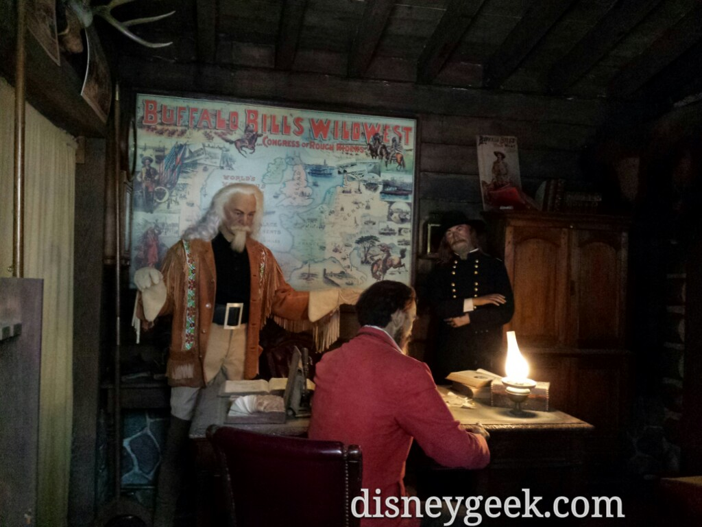 A look at Buffalo Bill inside one of the rooms of the fort #DisneylandParis