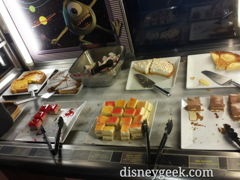 Dessert selection at Pizza Planet #DisneylandParis