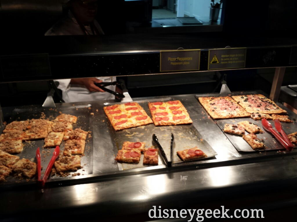 Pizza choices at Pizza Planet #DisneylandParis