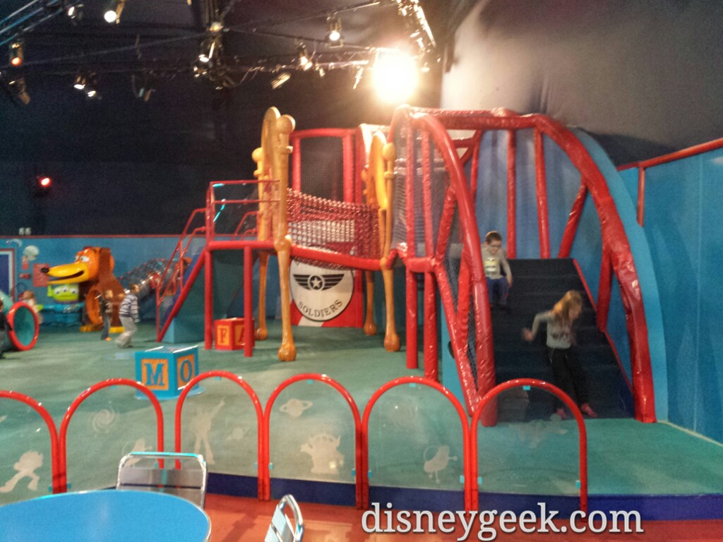 A play area for kids in Pizza Planet #DisneylandParis