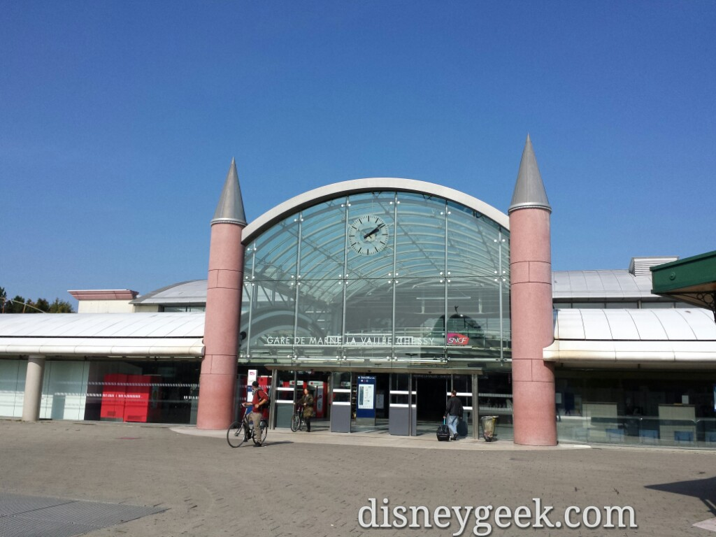Passing by #DisneylandParis the train station, happy to be done with trains this trip