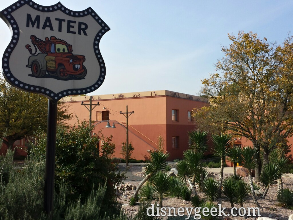 Cars characters mark the buildings at Hotel Santa Fe #DisneylandParis