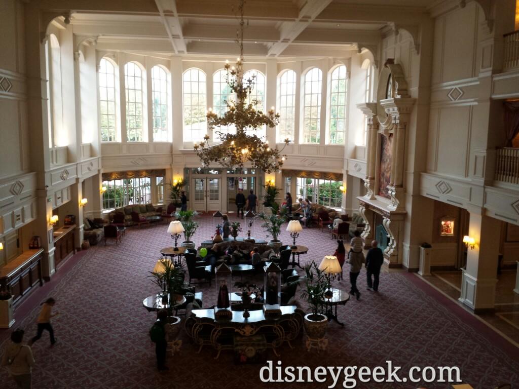 #DisneylandHotel lobby from 2nd floor #DisneylandParis