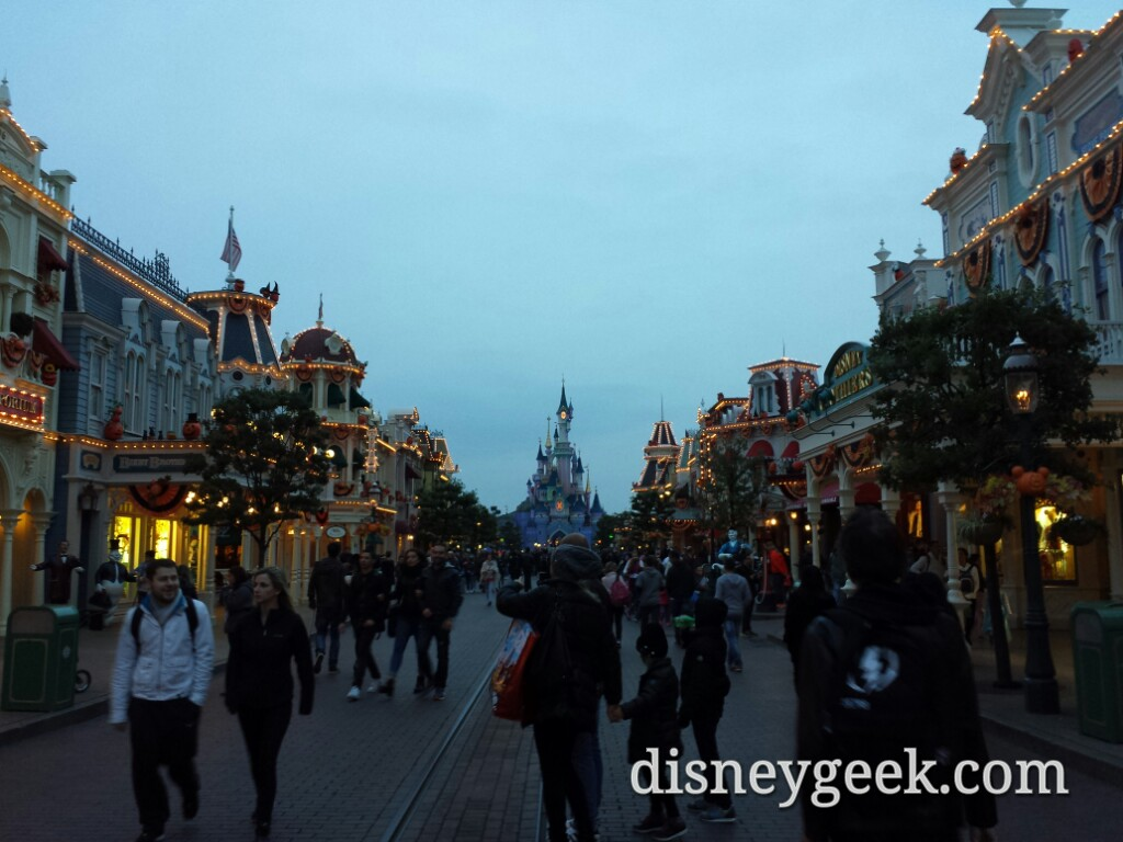 Main Street USA this evening #DisneylandParis.