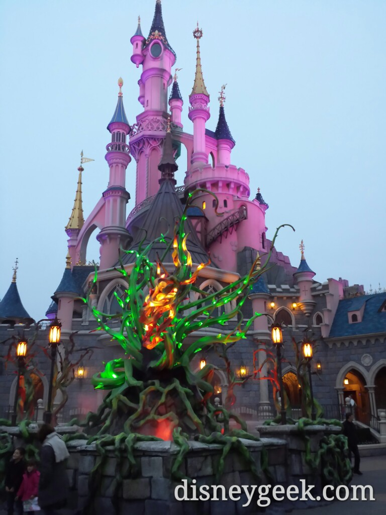 Sleeping Beauty Castle and #Halloween brambles #DisneylandParis