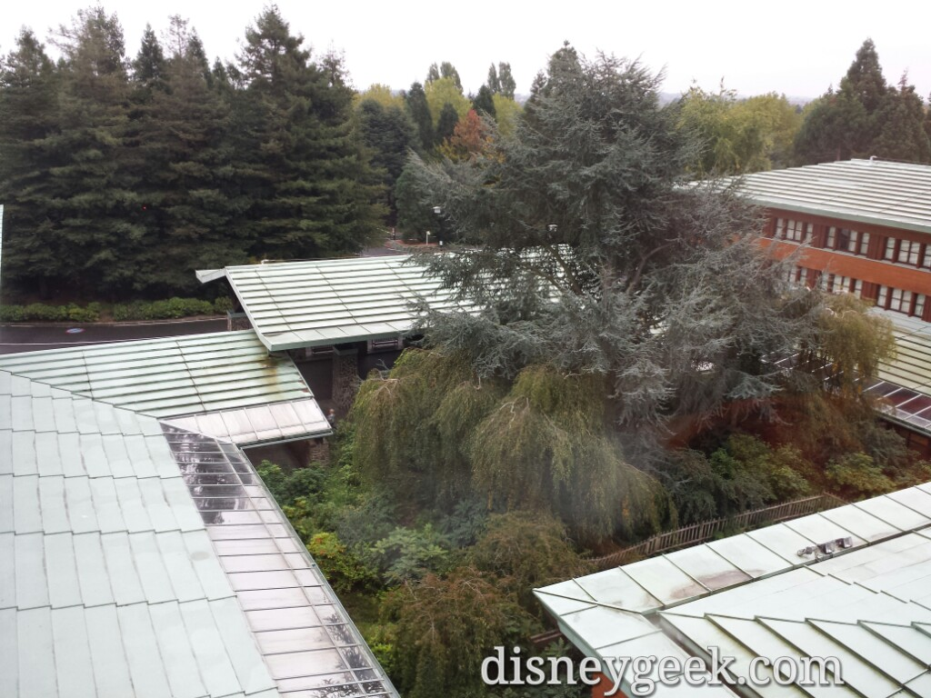 This morning awoke to wet ground & grey skies plus 90% chance of rain #DisneylandParis – Happy to have had 8 great days