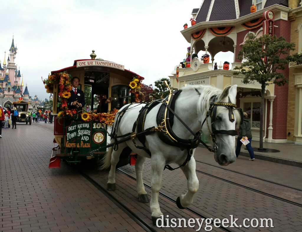 Horse drawn street car on Main Street USA #DisneylandParis.