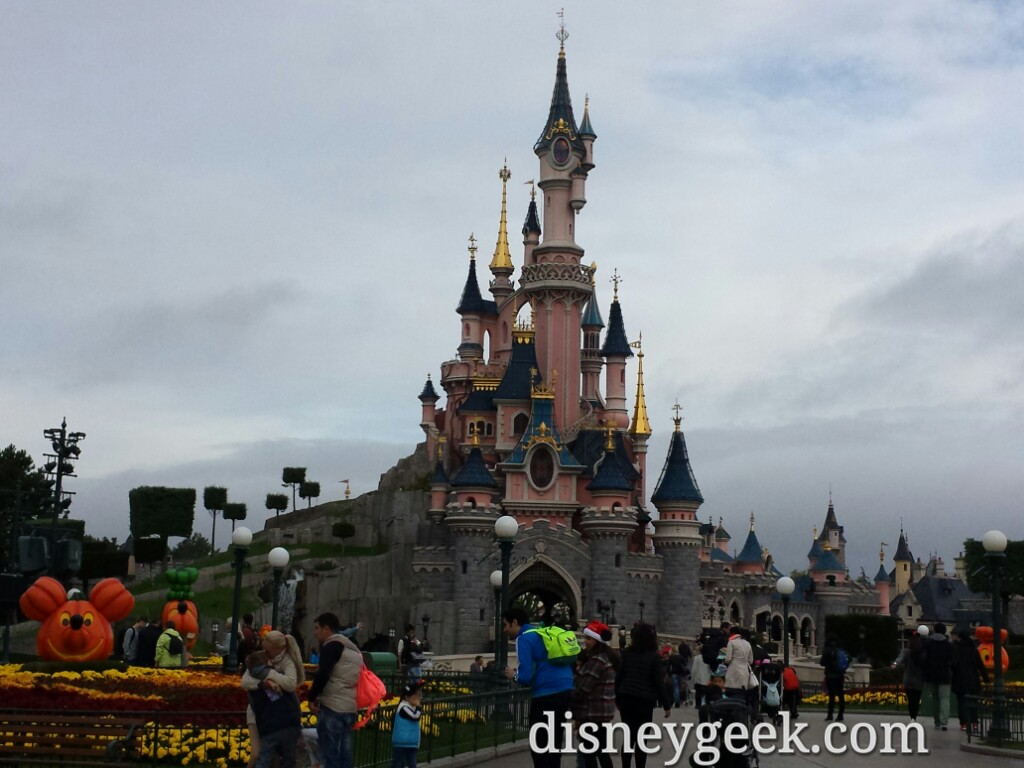 Sleeping Beauty Castle this morning #DisneylandParis
