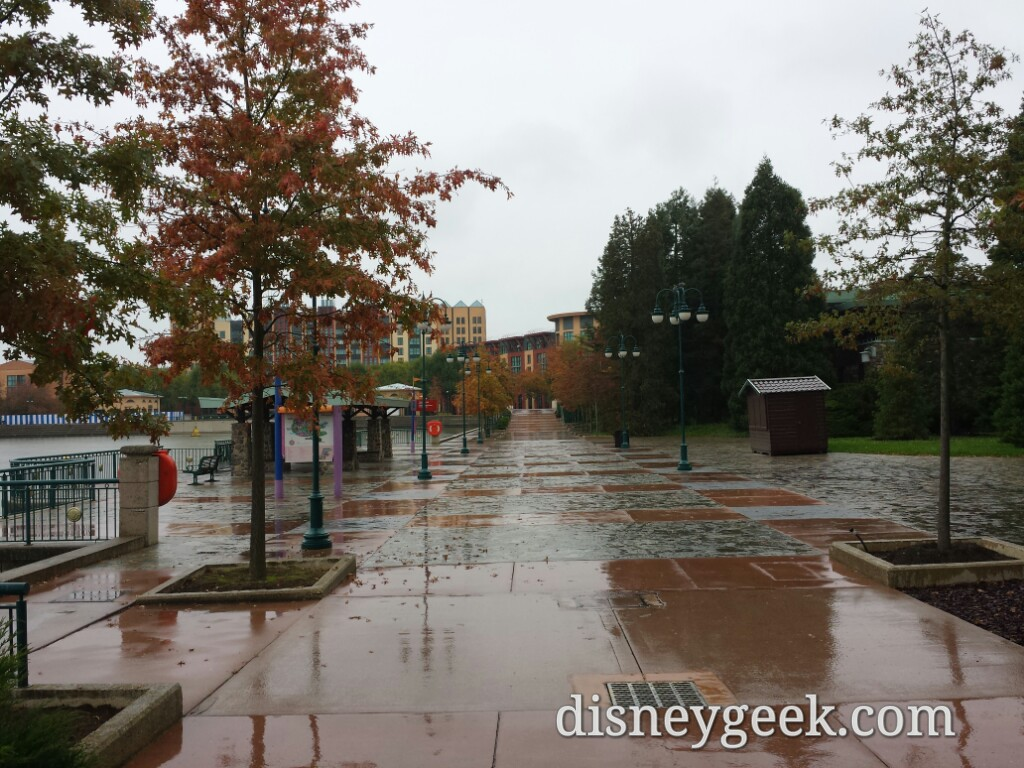 Looking back toward Disney's Hotel New York #DisneylandParis