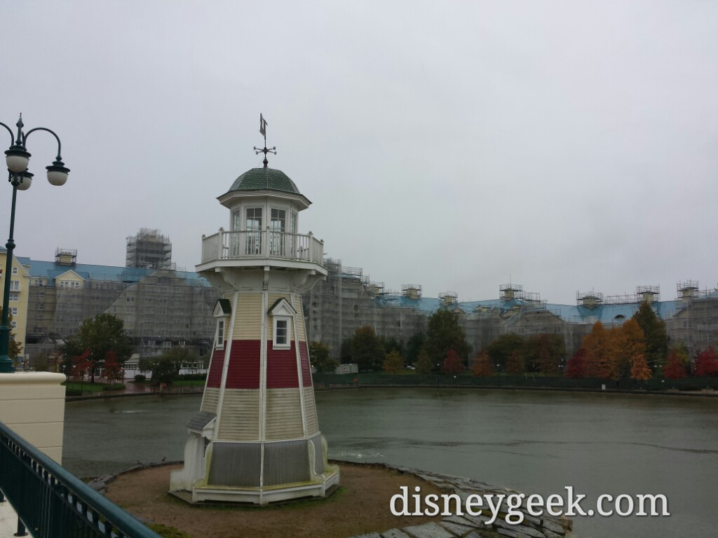 Disney's Newport Bay Club lighthouse #DisneylandParis