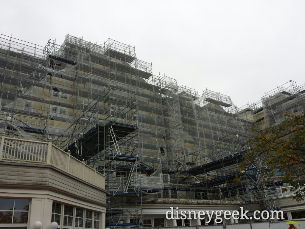 Renovation in progress at Disney's Newport Bay Club #DisneylandParis