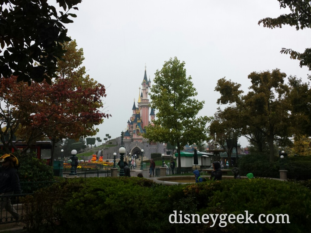 Sleeping Beauty Castle through the trees #DisneylandParis