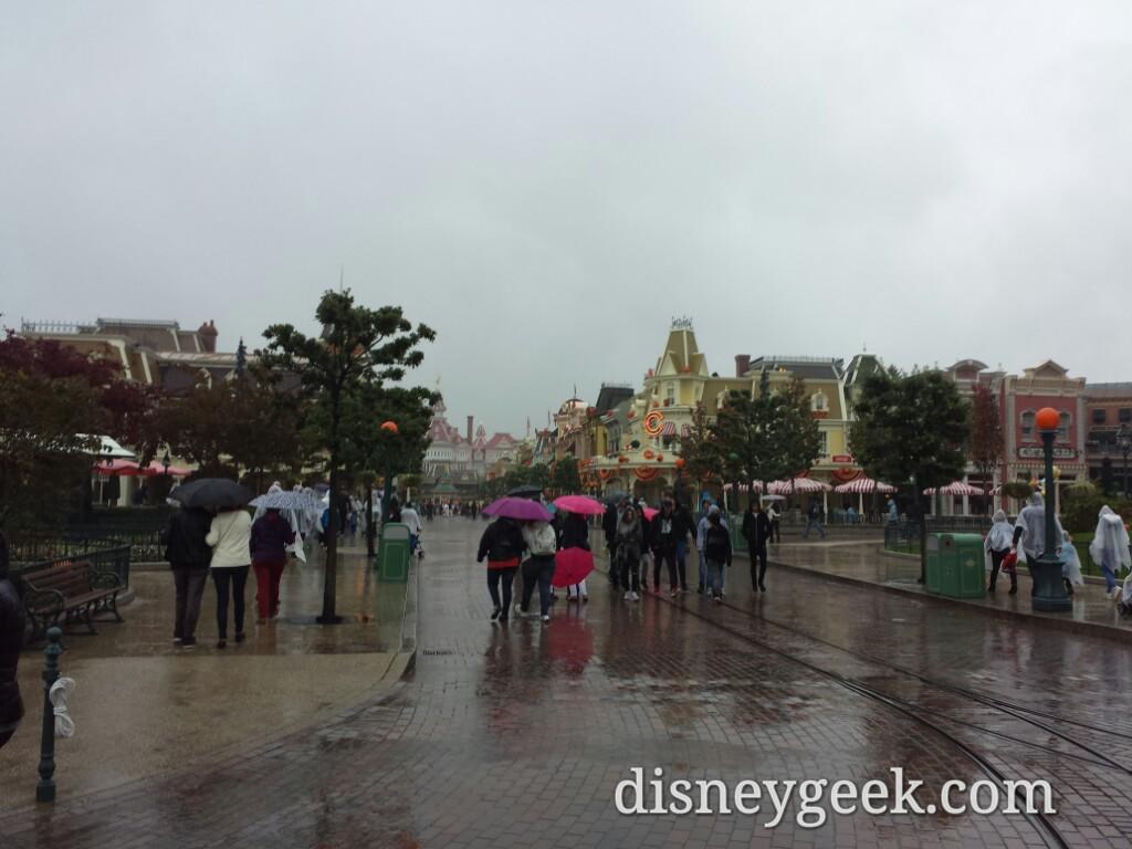 A rainy Main Street USA #DisneylandParis