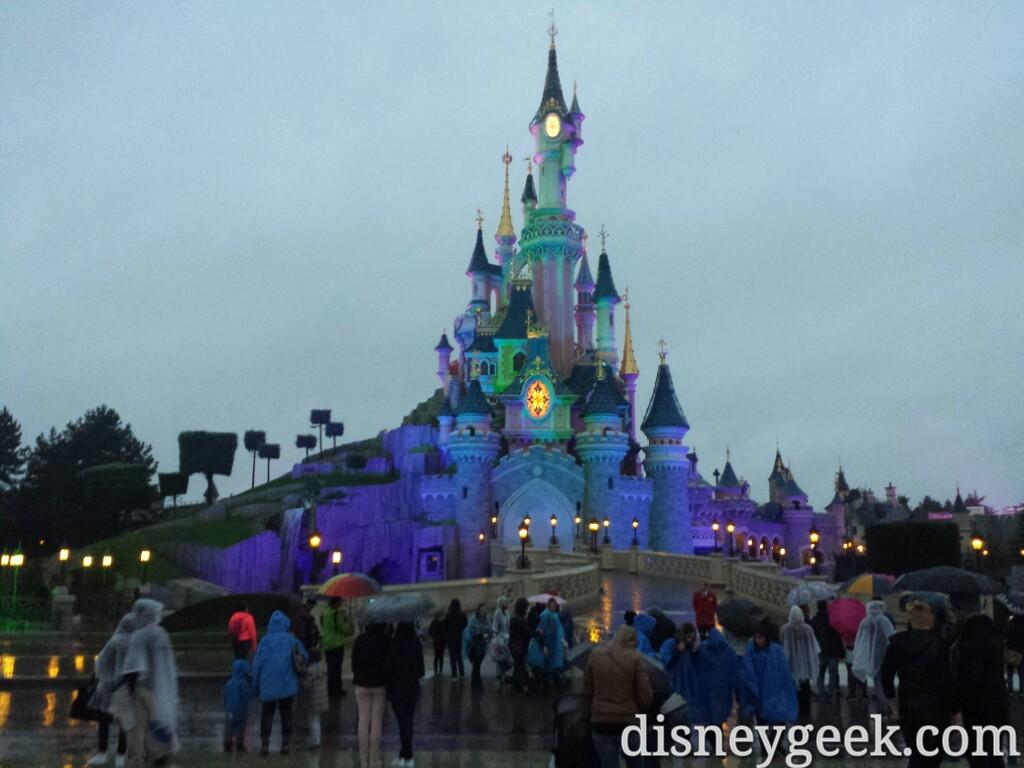 Sleeping Beauty Castle this evening #DisneylandParis