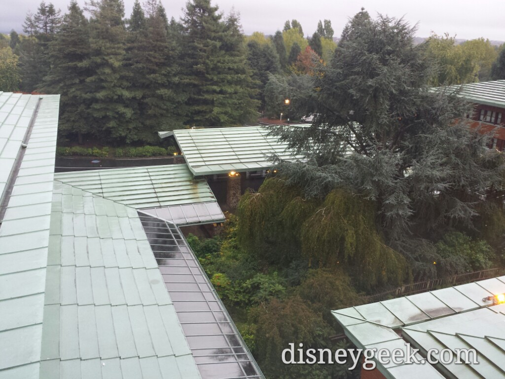 A steady rain & chance of thunderstorms is putting a damper on the plan for a last trip through the parks this morning #DisneylandParis