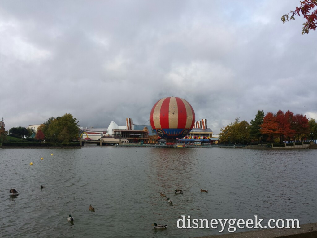 The rain let up so going to take one last lap through #DisneylandParis