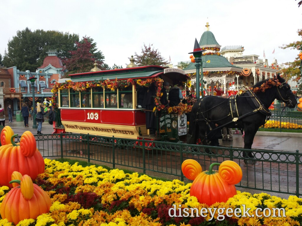 Horse drawn street car on Main Street USA #DisneylandParis