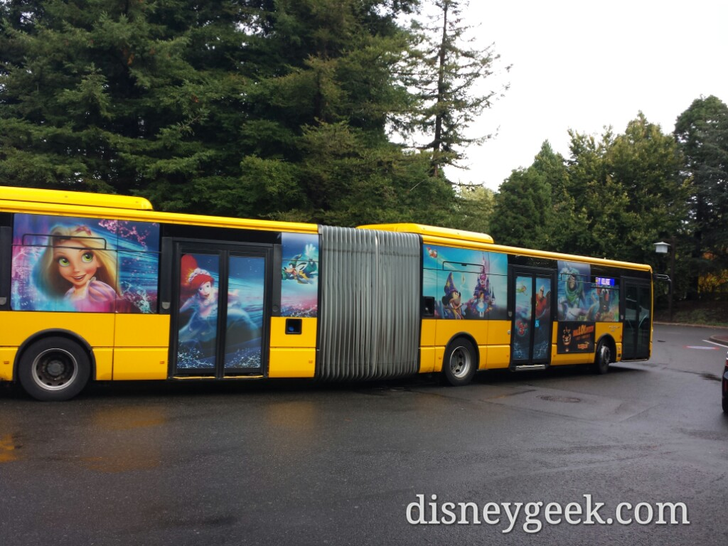 A shuttle bus leaving for the train station & parks #DisneylandParis