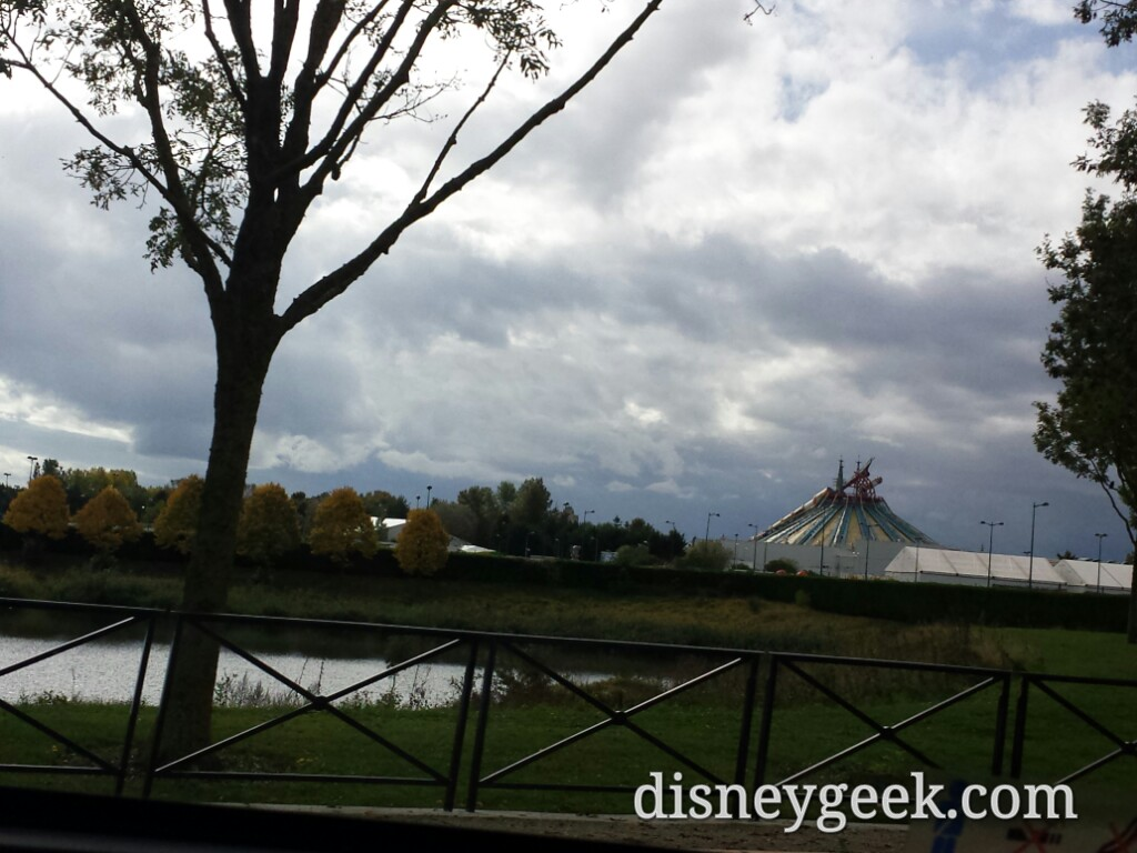 Passing by the backside of #DisneylandParis on our way to the airport