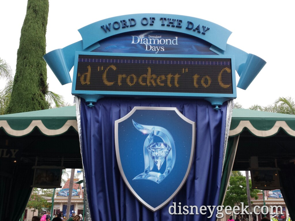 The word of the day #Disneyland60 today
