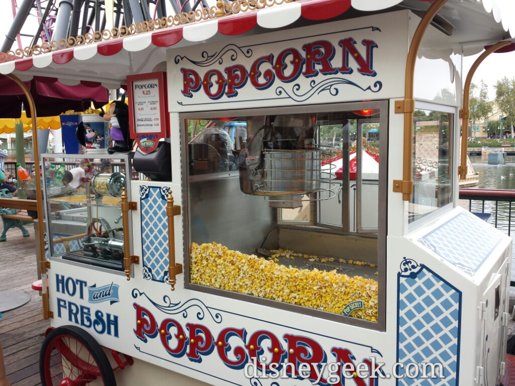 Popcorn carts now feature Pop Secret logos on the #Disneyland