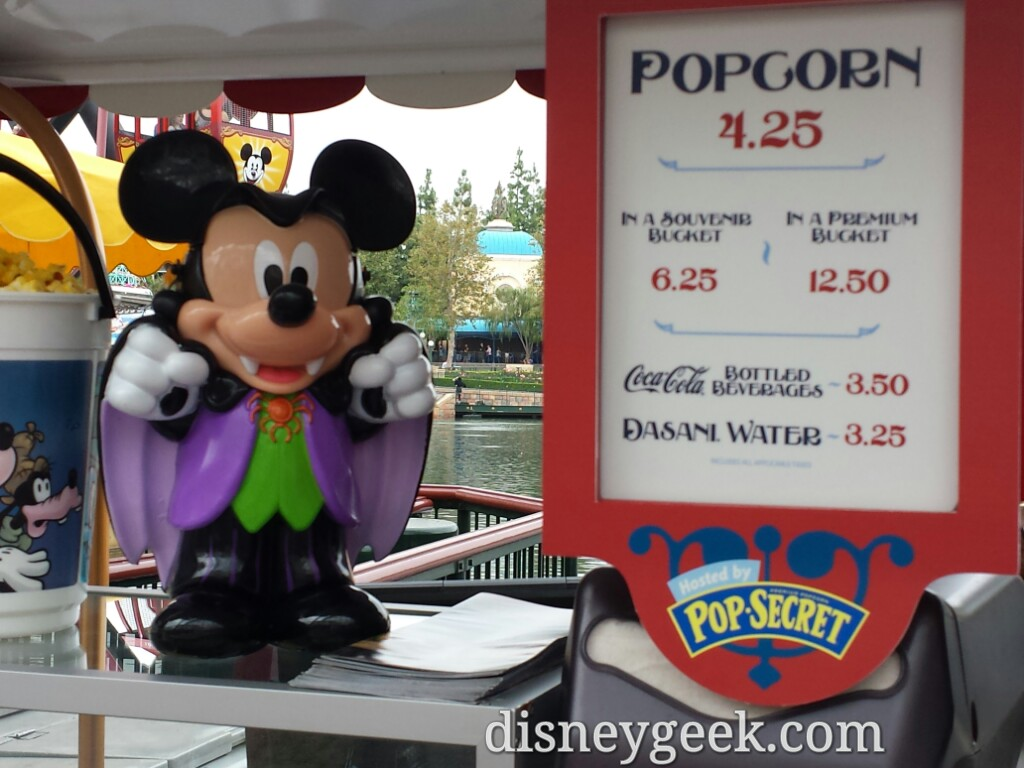 Mickey #Halloween bucket & closer look at a Pop Secret logo #Disneyland