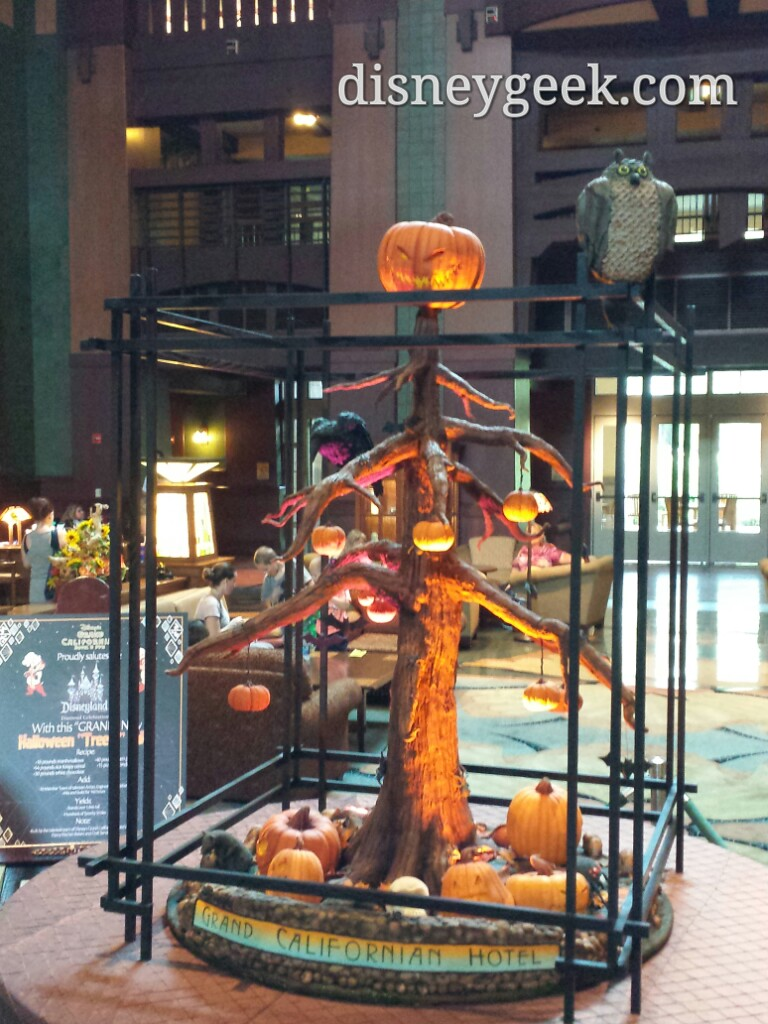 "#Halloween ""Tree-t"" cake in the Grand Californian Lobby"