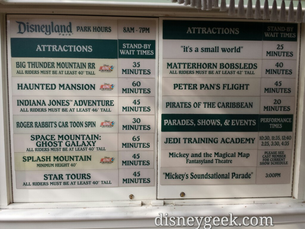 #Disneyland waits as of 2:54pm