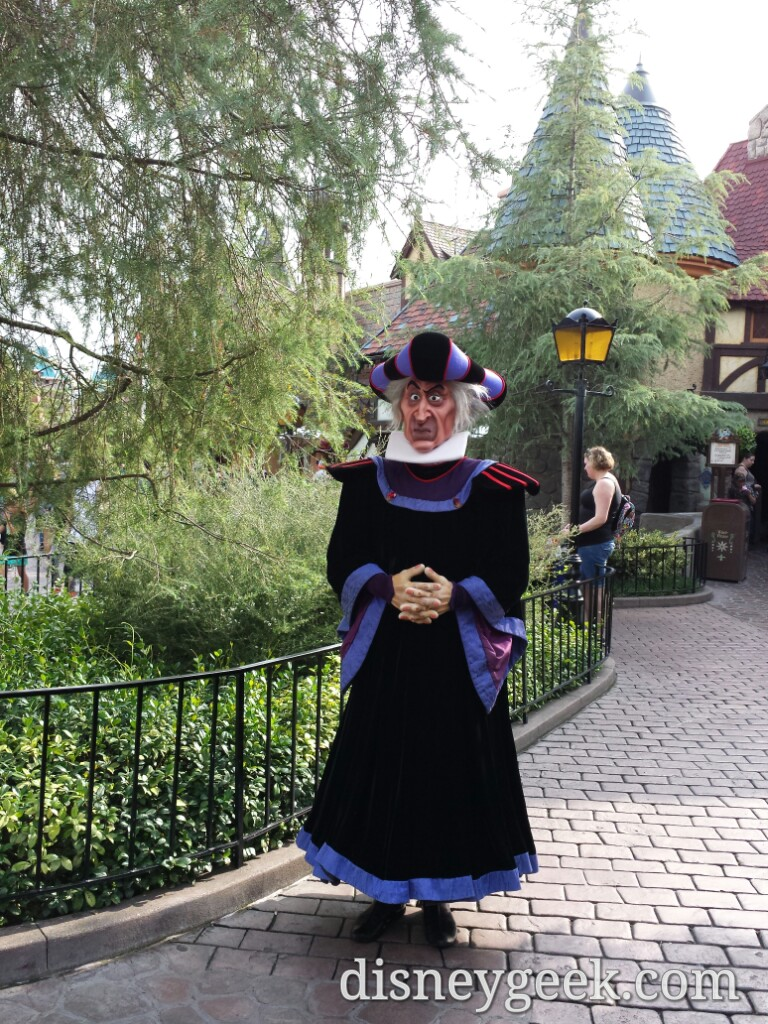 Claude Frollo in Fantasyland at #Disneyland
