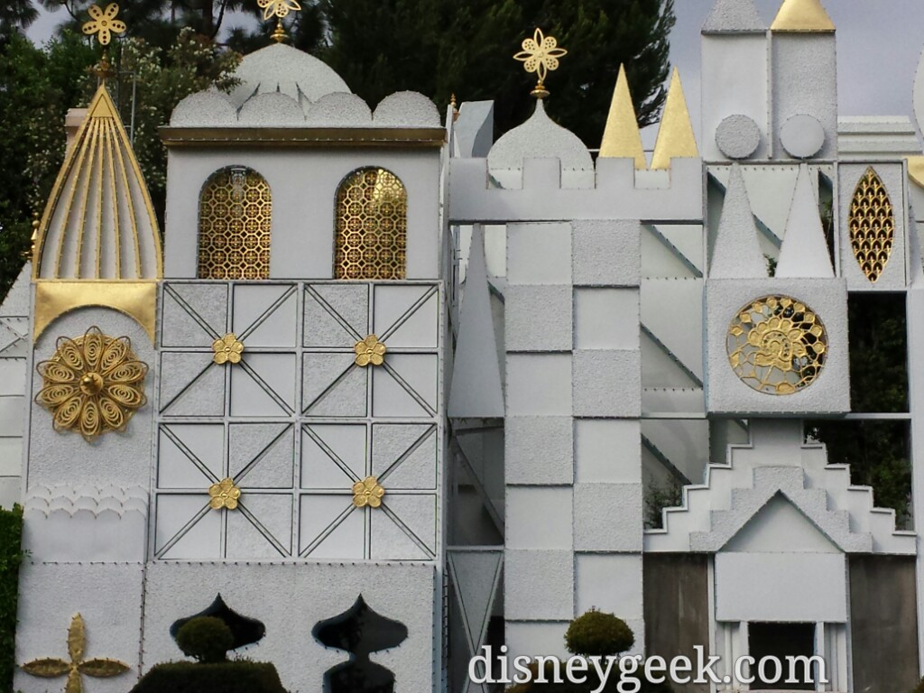 Lights are starting to be installed on the Small World facade with less than a month till the Holidays kick off