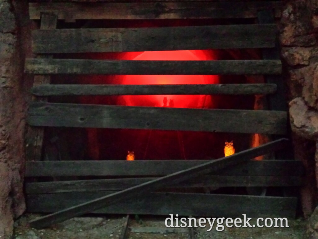 Owls haunting the mine shaft across from the Big Thunder exit #Disneyland