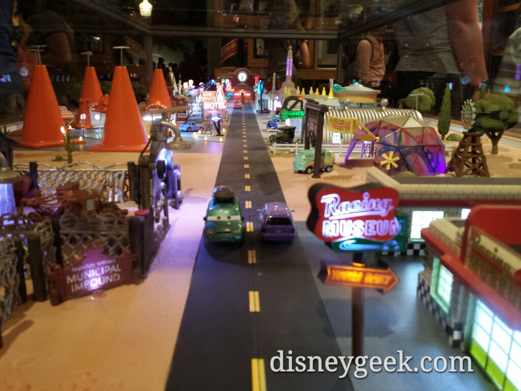 Sarge's has a large Radiator Springs model from Mattel #CarsLand