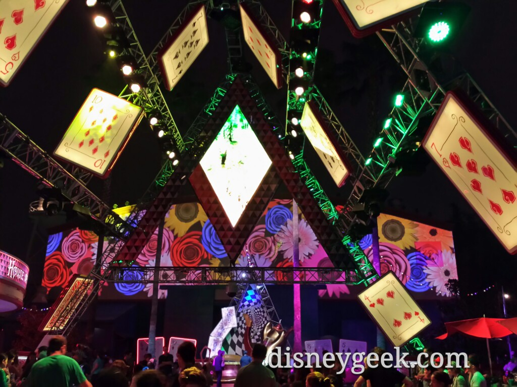 Walking through the #MadTParty at Disney California Adventure