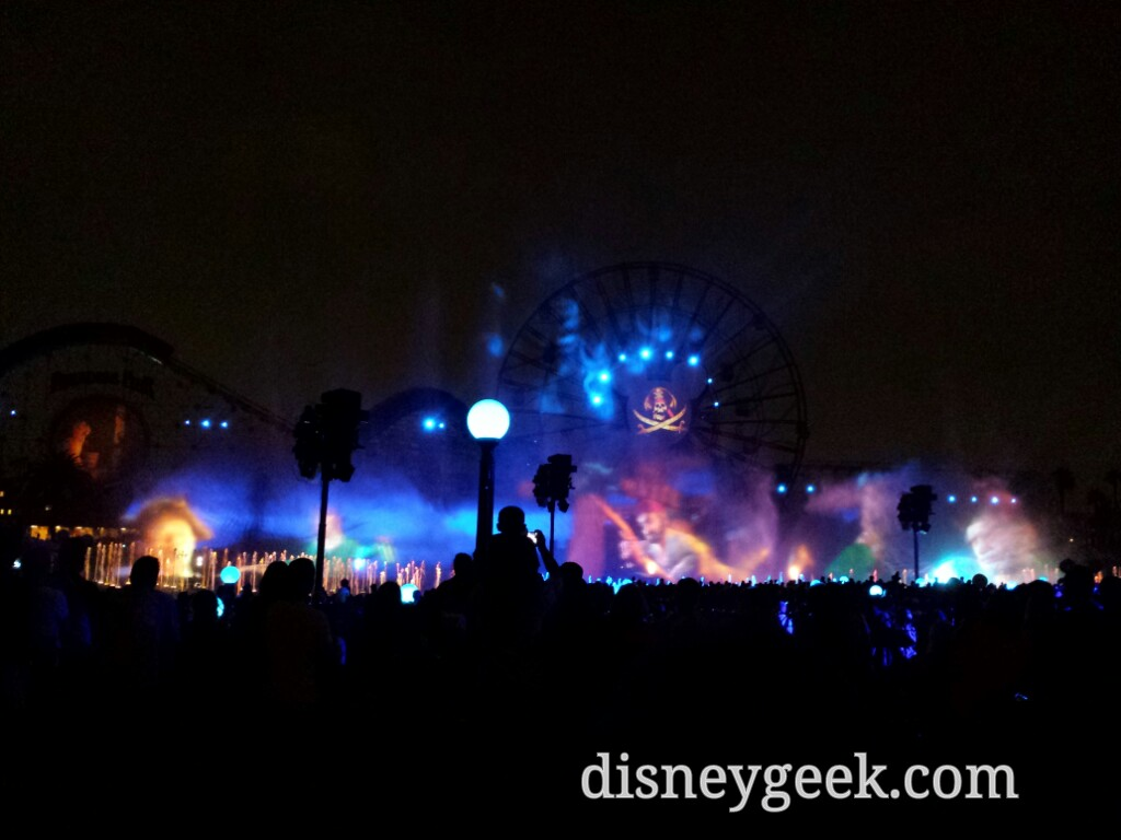 Wrapping up my evening with World of Color Celebrate #Disneyland60