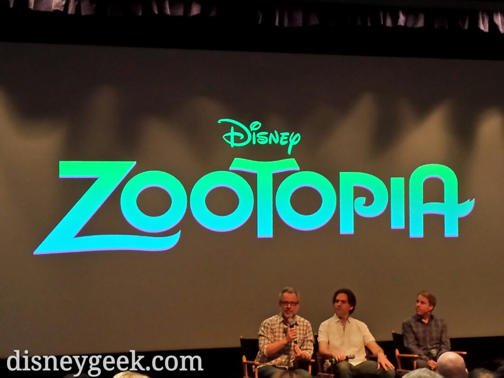 #Zootopia Directors Byron Howard & Rich Moore & Producer Clark SpencerOpened the day