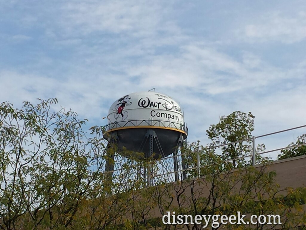 The water tower on the Studio Lot in Burbank was recently repainted