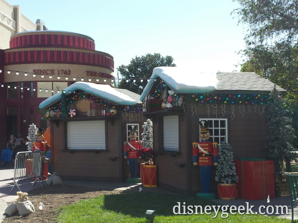 The Winter Village is being set up in Downtown Disney #Disneyland