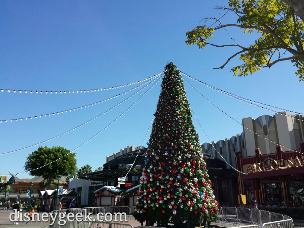 The Downtown Disney #Christmas tree is up #Disneyland