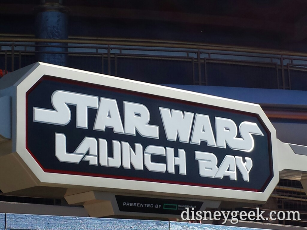 A closer look at the #StarWars Launch Bay sign #Disneyland
