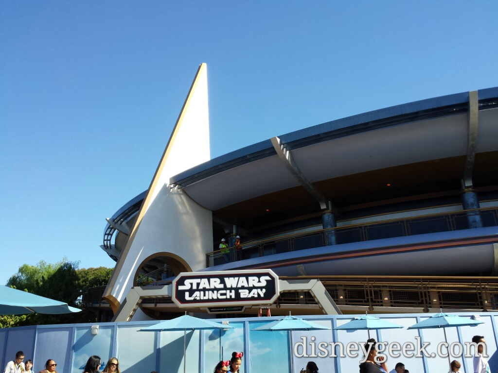 #StarWars Launch Bay sign up in Tomorrowland #Disneyland