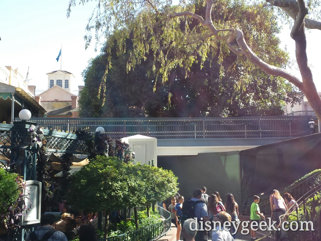 A new walkway/bridge in New Orleans Square adjacent to the exit over to the stairs by the mint julep bar