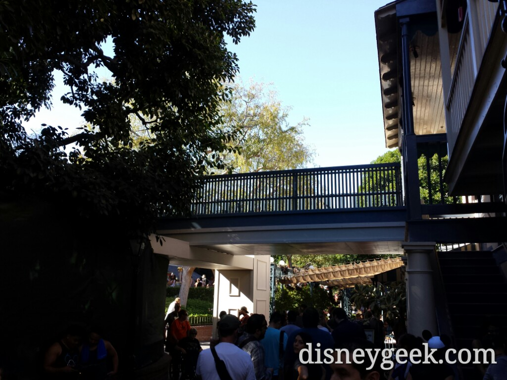 Here is the new walkway/bridge in New Orleans Square from the other side