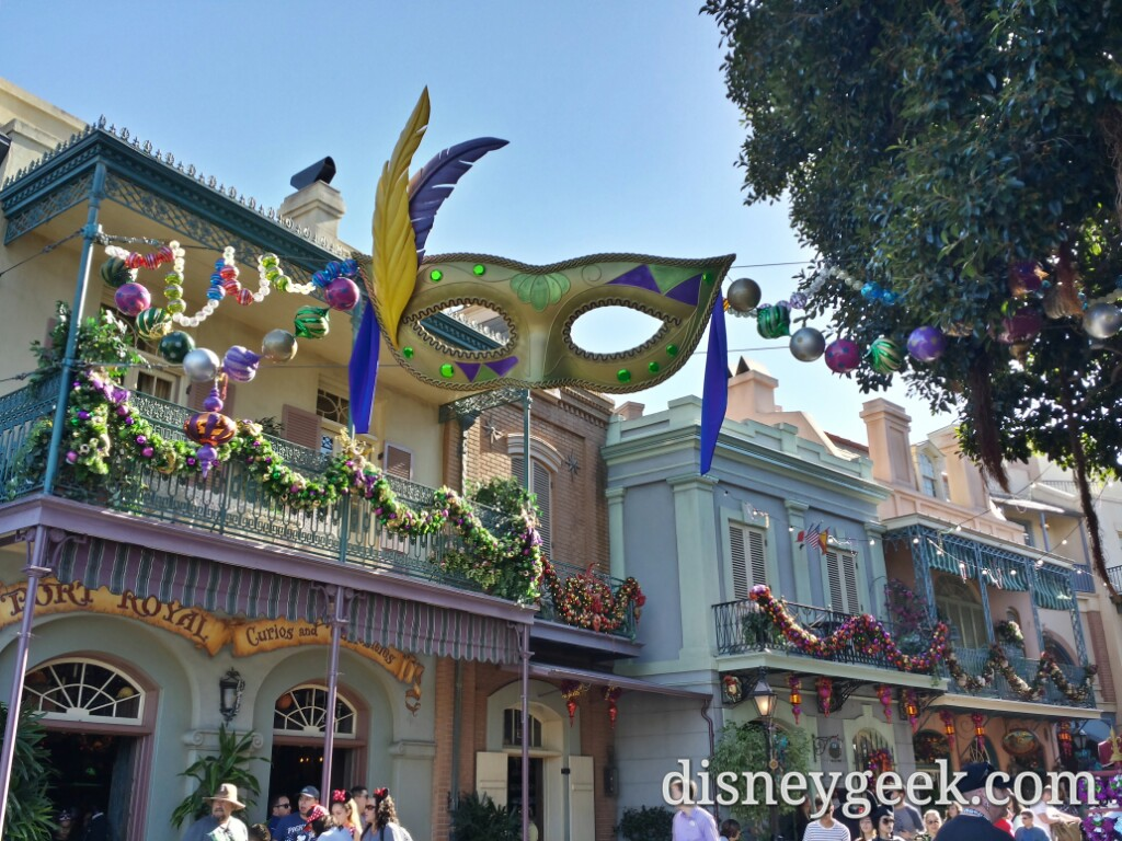 New Orleans Square is ready for #Christmas with most of the decorations up