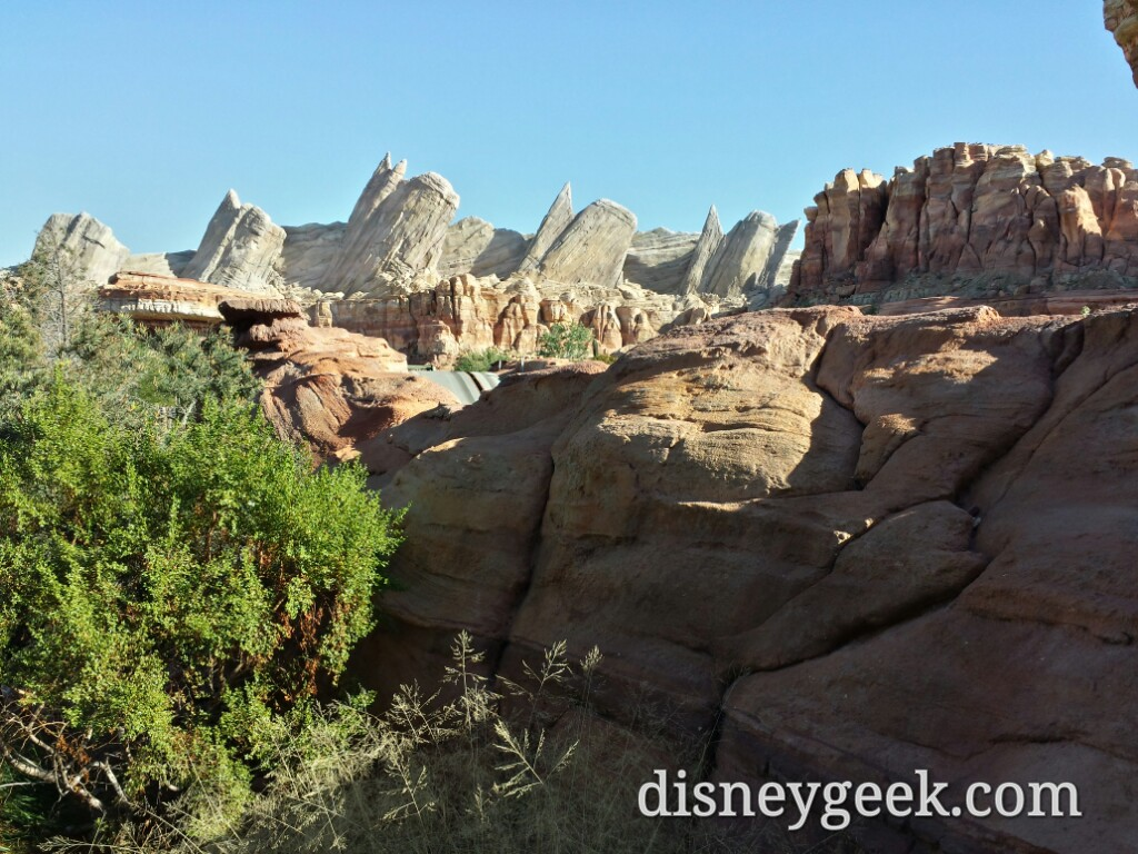 Ornament Valley #CarsLand is quiet right now with the Racers down