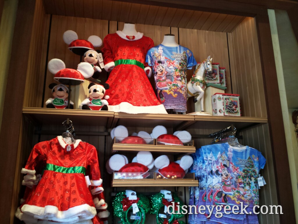#Christmas merchandise in Treasures on Paradise at Disney California Adventure