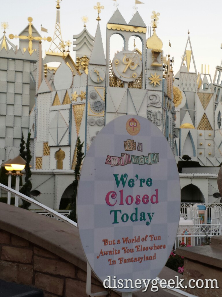 Small World Holiday opens next Week #Disneyland