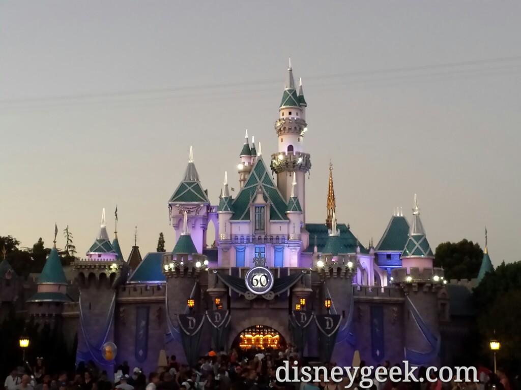 Sleeping Beauty Castle this evening #Disneyland