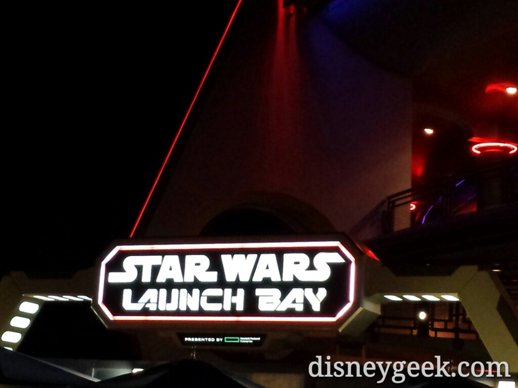 #StarWars Launch Bay sign at night #Disneyland