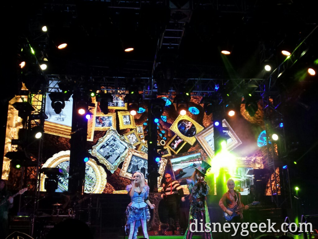 Stopped to listen to a performance from the #MadTParty band @ Disney California Adventure